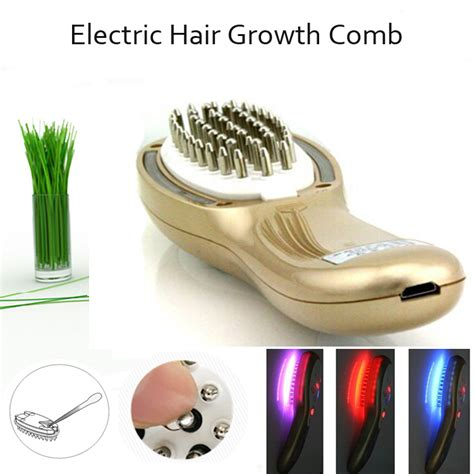 Electric Hair Scalp Follicle Stimulator Massager Comb With