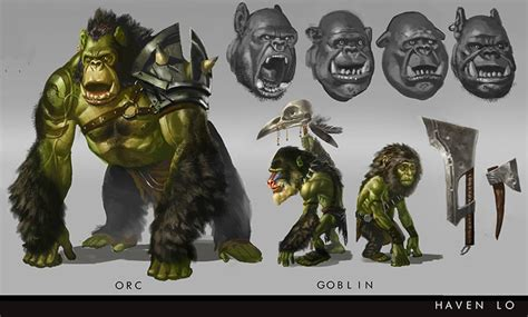 orc and goblin concept design gallery