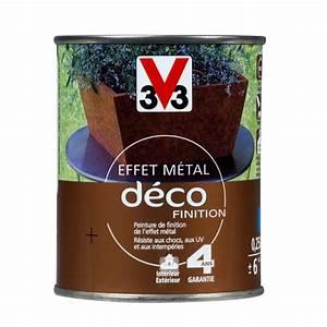 peinture effet metal deco finition metal rouille 025l With peinture sans odeur castorama