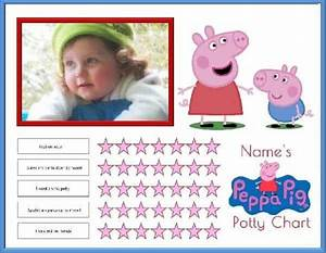Free Peppa Pig Potty Training Charts Customize With Your