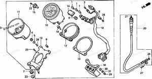 Honda Motorcycle 1998 Oem Parts Diagram For Meter