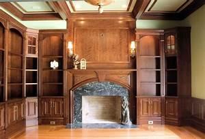 Custom Cherry Residential Library by Albert S Grant Fine