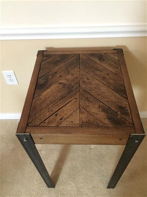 diy pallet wood chevron  table pallet furniture plans