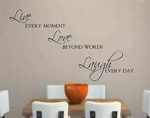 live love laugh vinyl wall decal decor lettering words for the With live love laugh wall decor