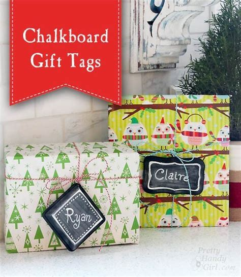 chalkboard gift tag signs