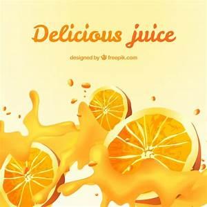 Delicious orange juice background in realistic design ...