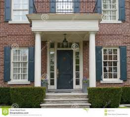 portico front of house front door of house with porch stock images image 30877704
