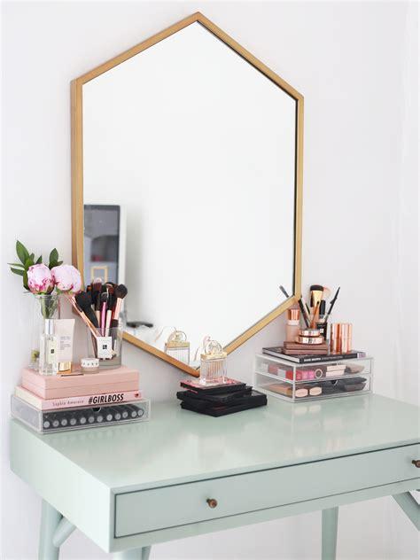 makeup desk with mirror my makeup collection kate la vie bloglovin