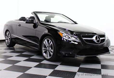 convertible mercedes black 2014 used mercedes benz e class certified e350 sport