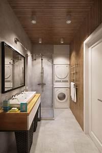 peinture couleur taupe et meubles modernes en 16 photos With carrelage adhesif salle de bain avec cadre de lit led