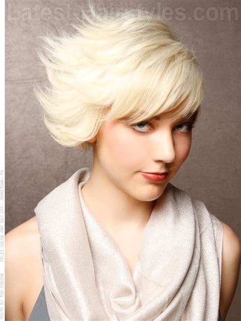 dramatic short haircut for women eclectic hair