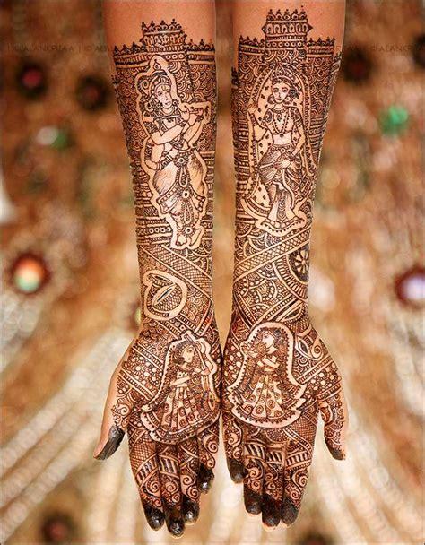 radha krishna mehndi design themes youll fall  love