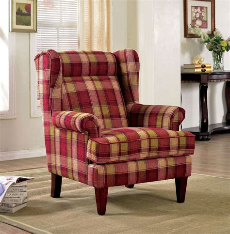 furniture of america living room collections living room accent chair wingback color espresso finish