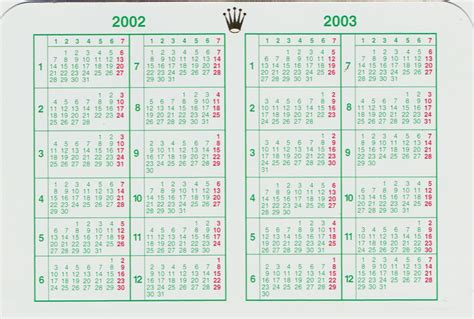 rolex kalender
