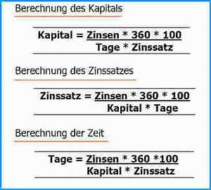 Zins Berechnen Formel : 8 zinsrechnung formeln rechnungsvorlage ~ Themetempest.com Abrechnung