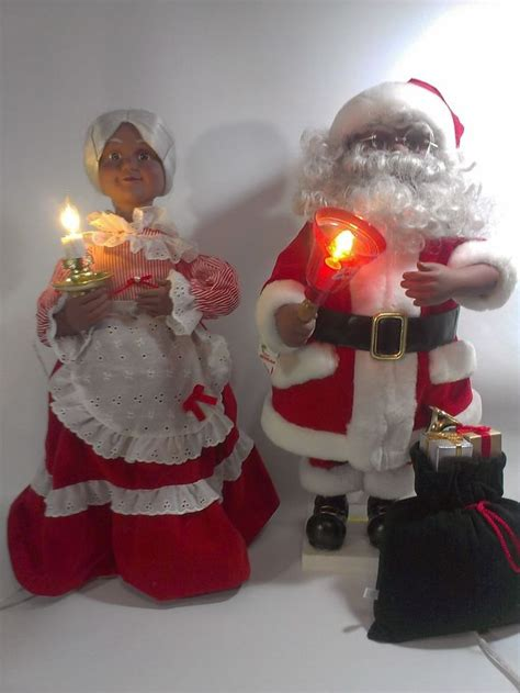 telco mr mrs black santa claus animated motionette african
