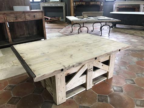 vieux bureau bois table basse en vieux sapin création unique bca