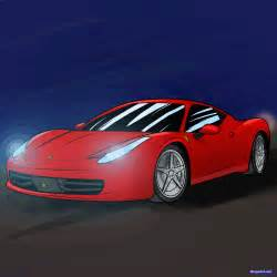 How to Draw a Sports Car Drawing