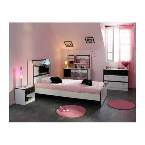 vente chambre chambre fille 4 pièces avec bureau disco et blanche