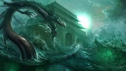 Dragon Water Wallpapers Chinese Sea Dragons Desktop