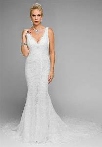 two tiered fitted lace mermaid wedding dress 117280 dory With fitted mermaid wedding dresses