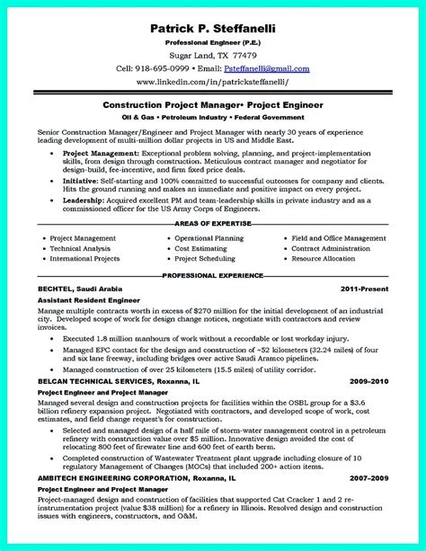 Construction Resume by Awesome Simple Construction Superintendent Resume Exle