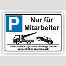 Parkplatzschild Parkplatzreservierung Nur Für Mitarbeiter