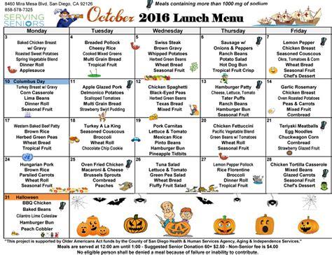 lunch menu mira mesa center