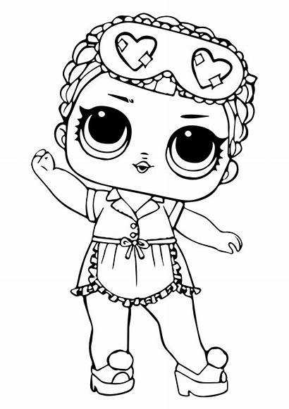 Lol Coloring Surprise Pages Doll Sleeping Printable