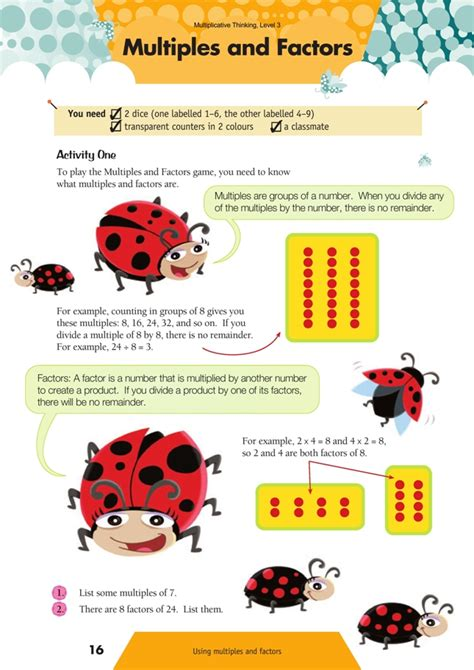 Multiples And Factors Nzmaths