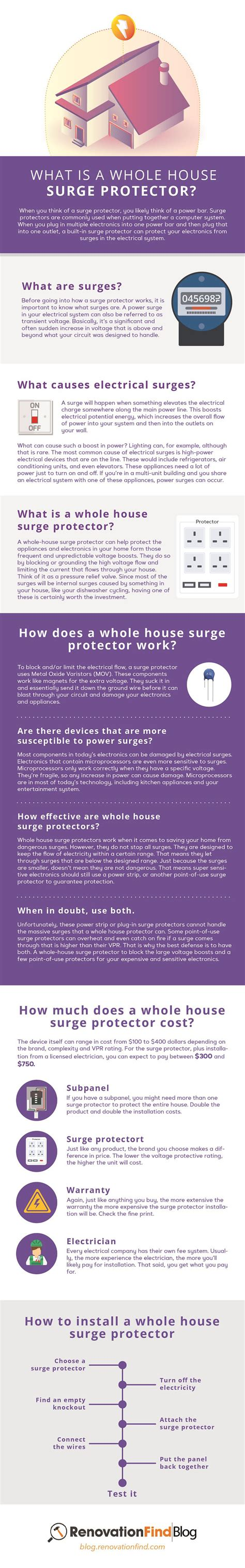 surge protector whole infographic