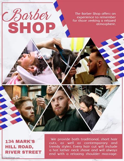 mens hair salon advertisement flyer template  images