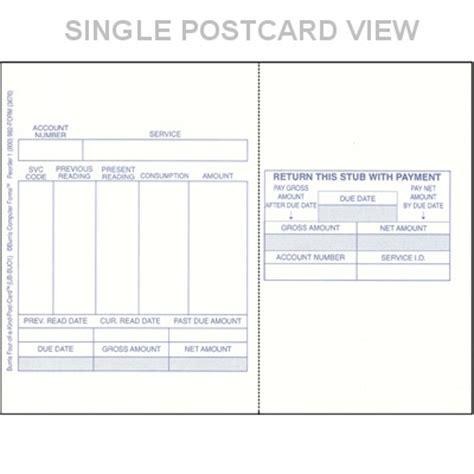 blank utility bill preprinted blank utility bills blank postcard stock blank postcard paper