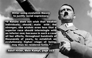 Hitler, creatio... Social Darwinism Hitler Quotes