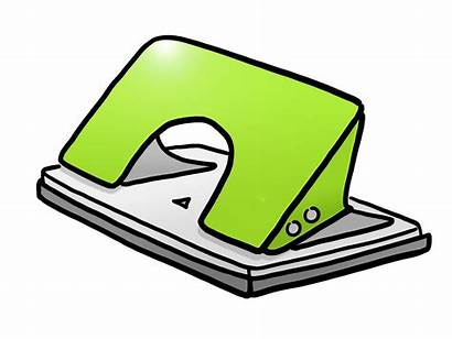 Clipart Stationery Eraser Clip Puncher Punch Cliparts