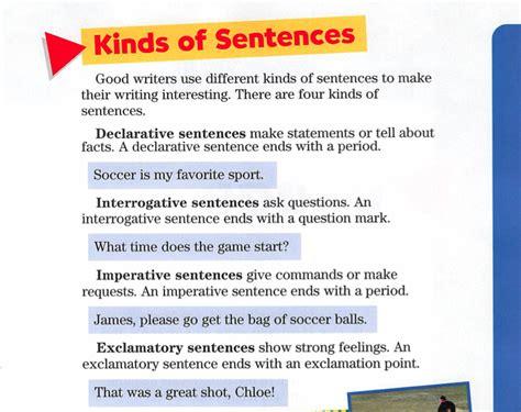 printable worksheets 187 worksheets for kinds of sentences