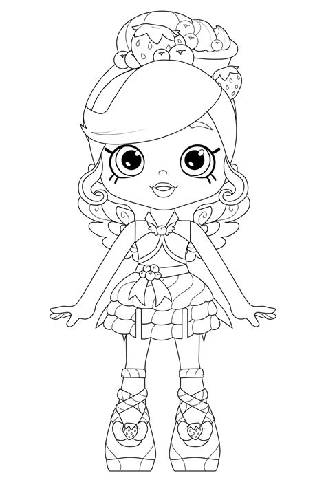 shoppies dolls coloring pages getcoloringpagescom
