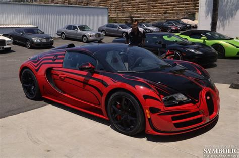 Red And Black Bugatti Veyron L'or Blanc Style