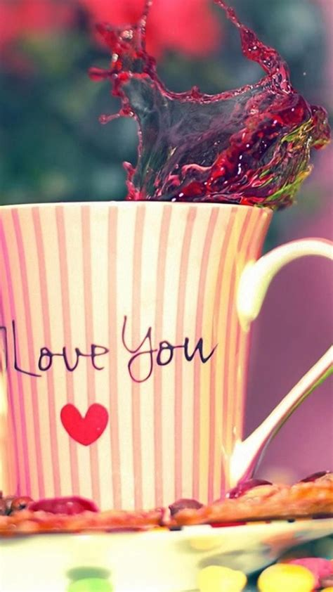 love  tea cup valentines day gift android wallpaper