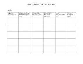 Goals and Objectives Worksheet