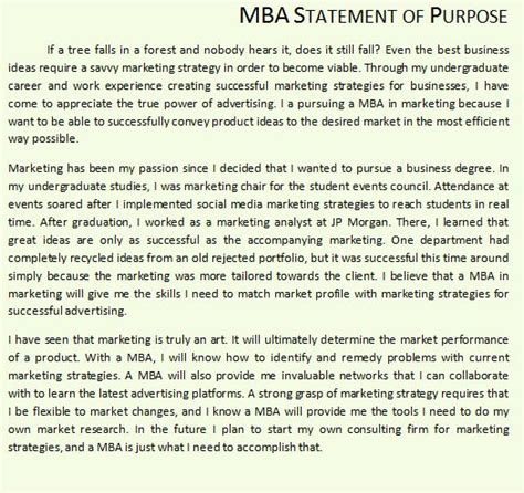 find good mba sop examples  quora