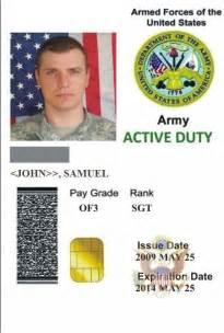 Us Military ID Card