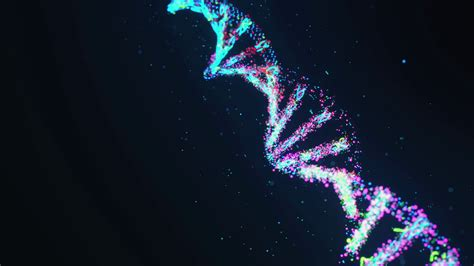 Animated Dna Wallpaper - animation of section of dna molecule in motion against