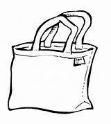 Clipart Bag Tote Library Carry Cliparts Clip sketch template