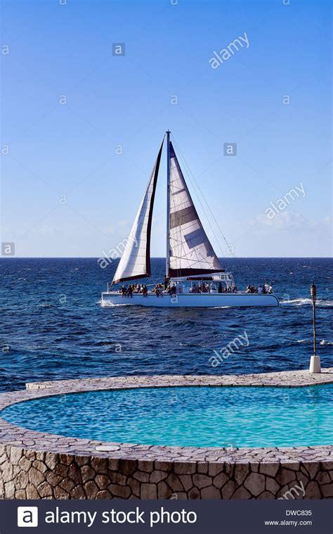 Catamaran Excursion Jamaica by Caribbean Sightseeing Jamaica Stock Photos Caribbean