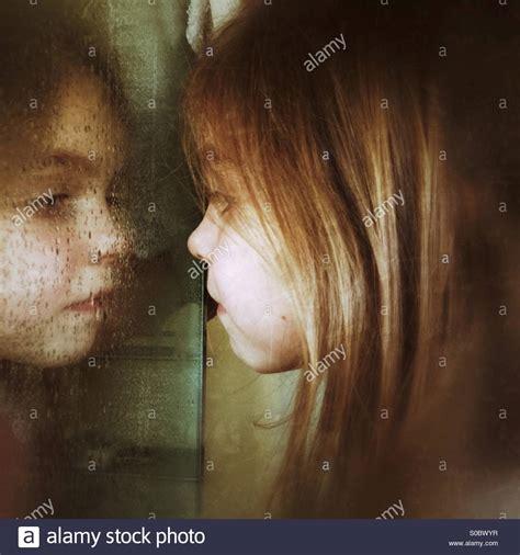 blase spiegeln frau