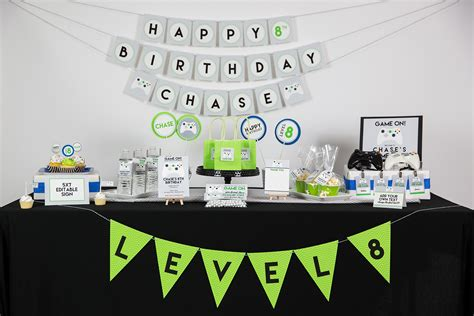 printable video game birthday party decorations