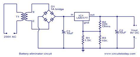 battery eliminator circuit electronic circuits