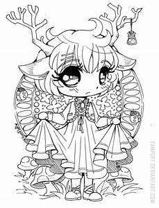 Little Deer Chibi Open Lineart By Yampuff On Deviantart