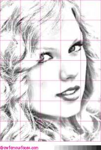Taylor Swift Drawing Grid